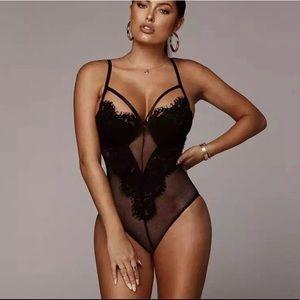 Tops - NEW! Black Lace Bodysuit